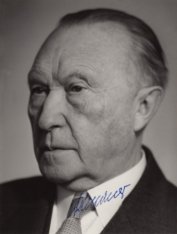 Konrad Adenauer, by Schafgans, 1960s - NPG x5778 - © reserved; collection National Portrait Gallery, London