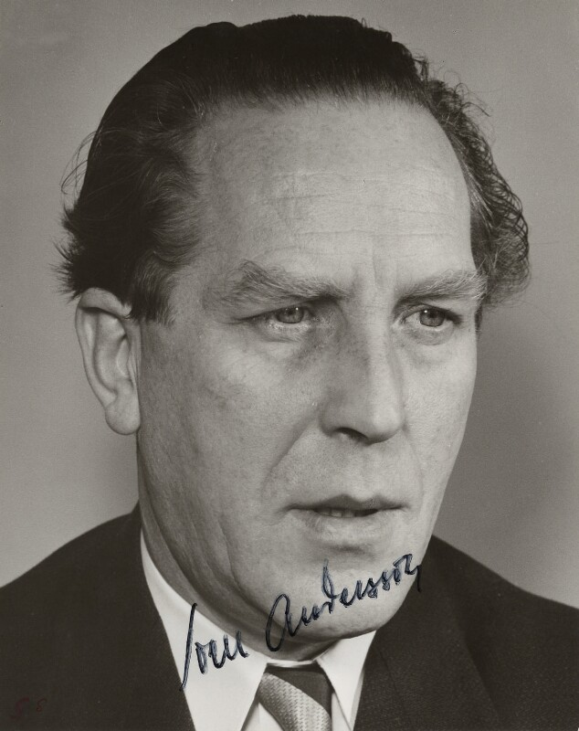 Sven Olof Morgan Andersson, by Hernried, 1950s - NPG x5827 - © reserved; collection National Portrait Gallery, London
