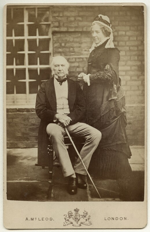 William Ewart Gladstone; Catherine Gladstone (née Glynne), by Archibald McLeod, 1882 - NPG x5977 - © National Portrait Gallery, London