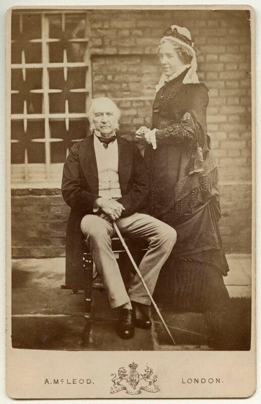 William Ewart Gladstone; Catherine Gladstone (née Glynne), by Archibald McLeod, 1882 - NPG x5977 - © National Portrait Gallery, London