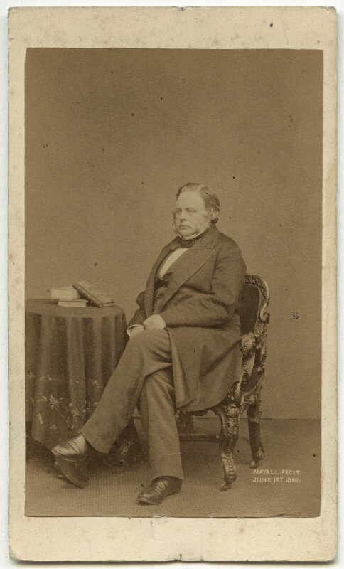 John Bright, by John Jabez Edwin Mayall, 1861 - NPG x6056 - © National Portrait Gallery, London