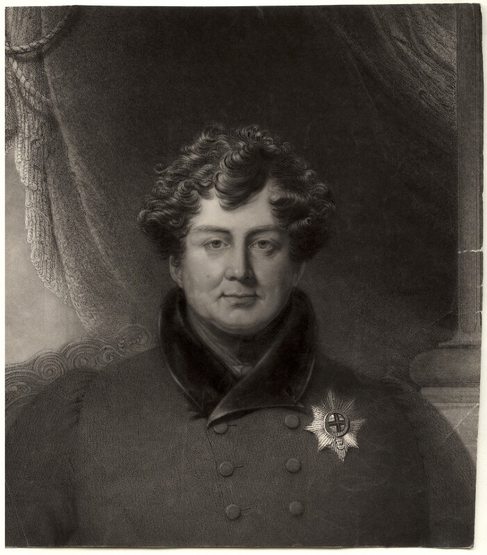 King George IV, by James Bromley, after  Robert Bowyer, published 1827 - NPG D10842 - © National Portrait Gallery, London