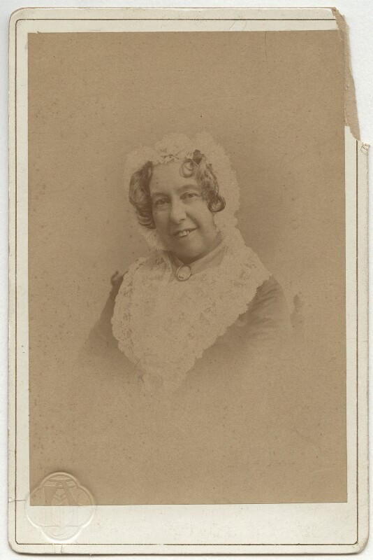 Mary Victoria Cowden Clarke (née Novello), by Unknown photographer, 1890s - NPG x6157 - © National Portrait Gallery, London