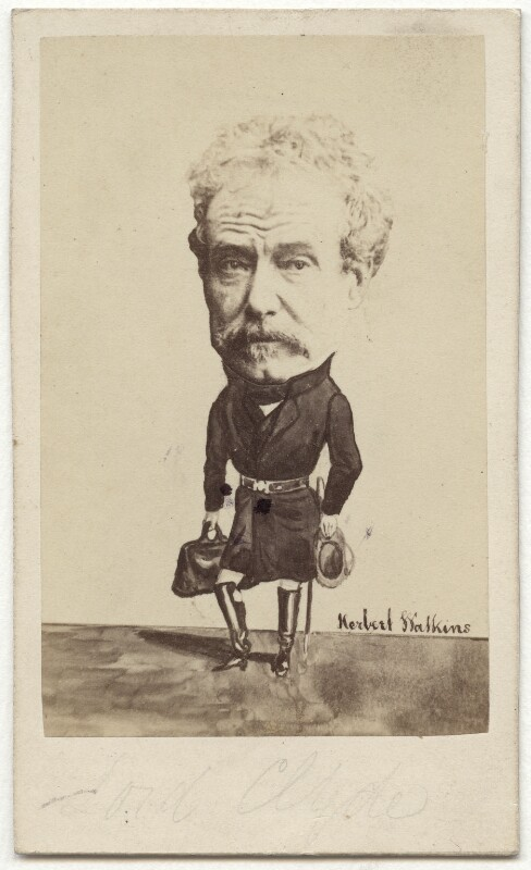 Colin Campbell, 1st Baron Clyde, by and after (George) Herbert Watkins, circa 1857 - NPG x6181 - © National Portrait Gallery, London