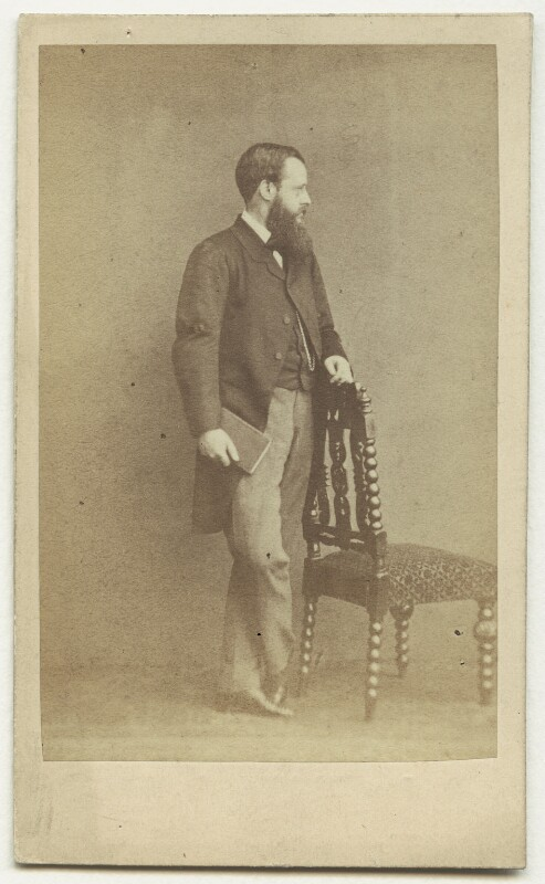Wilkie Collins, by Herbert Watkins, early 1860s - NPG x6324 - © National Portrait Gallery, London