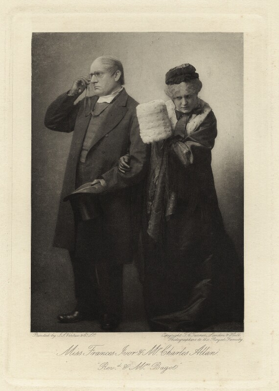Charles Allan as Rev. Thomas Bagot; Frances Ivor as Mrs Bagot in 'Trilby', by Thomas Charles Turner, published by  J.S. Virtue & Co Ltd, 1895 - NPG x6402 - © National Portrait Gallery, London