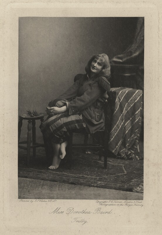 Dorothea Baird (Mrs H.B. Irving) as Trilby, by Thomas Charles Turner, published by  J.S. Virtue & Co Ltd, 1895 - NPG x6403 - © National Portrait Gallery, London