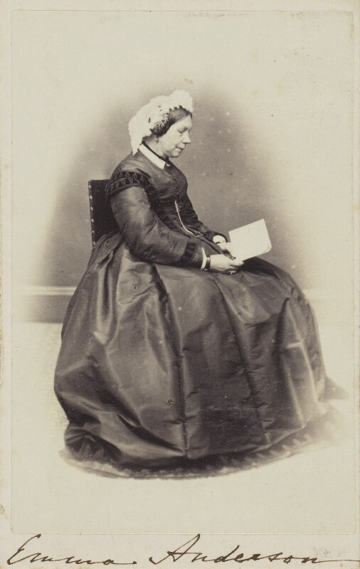 Emma Anderson, by Unknown photographer, 1860s - NPG Ax68090 - © National Portrait Gallery, London
