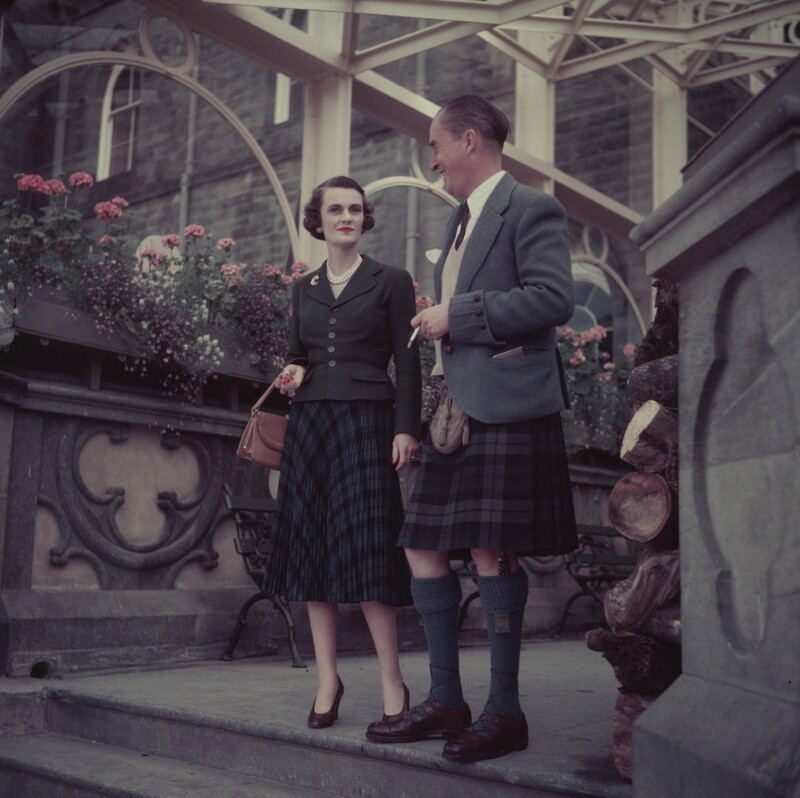 Margaret (Whigham), Duchess of Argyll; Ian Douglas Campbell, 11th Duke of Argyll, by (Edward) Russell Westwood, 1953 - NPG x68261 - © estate of Russell Westwood / National Portrait Gallery, London