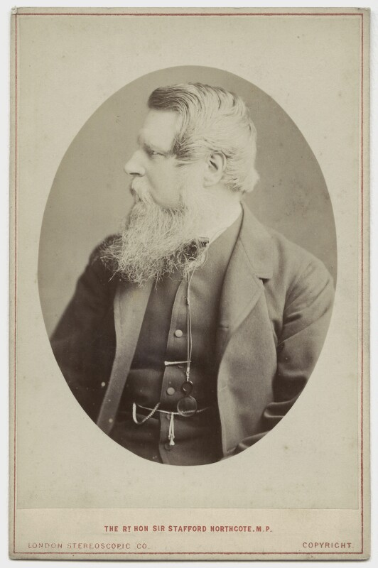 Sir Stafford Henry Northcote, 1st Earl of Iddesleigh, by London Stereoscopic & Photographic Company, circa 1873 - NPG x6854 - © National Portrait Gallery, London