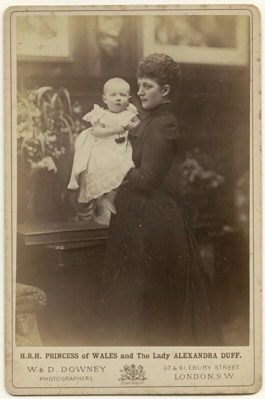Princess Alexandra Victoria Alberta Edwina Louise, Duchess of Connaught; Queen Alexandra, by W. & D. Downey, circa 1892 - NPG x6856 - © National Portrait Gallery, London