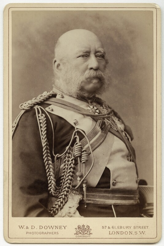 Prince George William Frederick Charles, 2nd Duke of Cambridge, by W. & D. Downey, 1892 or before - NPG x6857 - © National Portrait Gallery, London