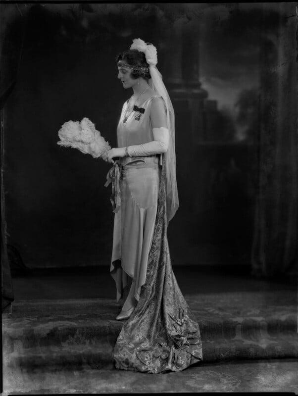 Elsie Elizabeth (née Stewart), Lady Allardyce, by Lafayette (Lafayette Ltd), 26 June 1929 - NPG x69605 - © National Portrait Gallery, London