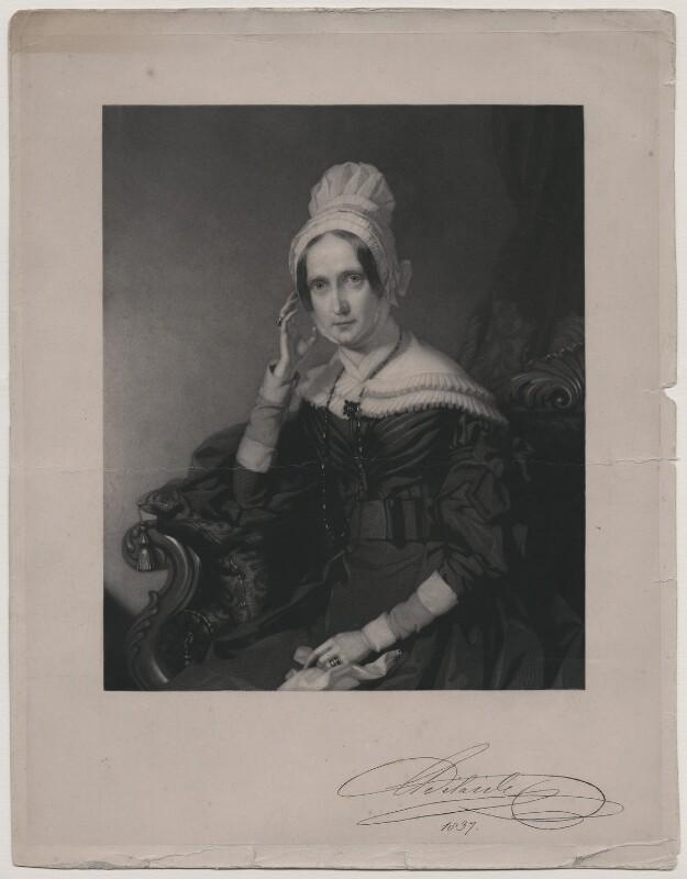 Queen Adelaide (Princess Adelaide of Saxe-Meiningen), after John Lucas, (1844) - NPG D10856 - © National Portrait Gallery, London