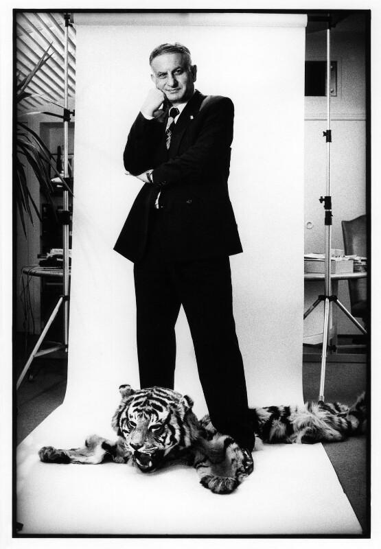Naim Ibrahim Attallah, by Jillian Edelstein, 12 November 1988 - NPG x31004 - © Jillian Edelstein / Camera Press