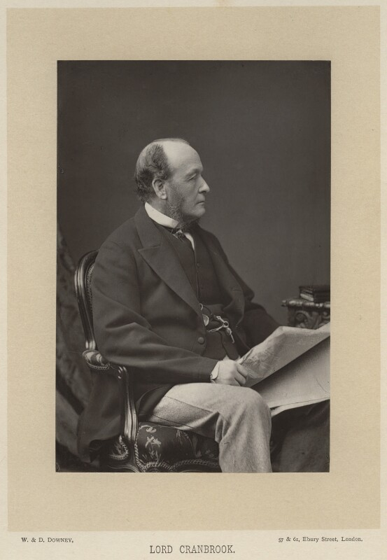 Gathorne Gathorne-Hardy, 1st Earl of Cranbrook, by W. & D. Downey, published by  Cassell & Company, Ltd, published 1891 - NPG x7000 - © National Portrait Gallery, London