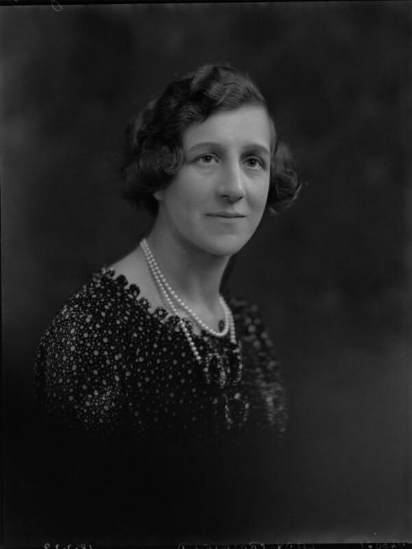 Domini, Lady Crosfield, by Lafayette, 18 March 1929 - NPG x70016 - © National Portrait Gallery, London