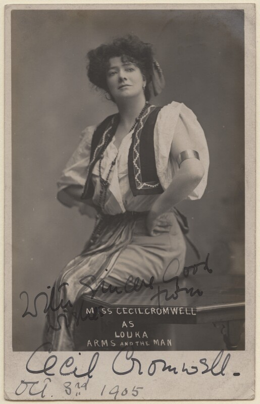 Cecil Cromwell as Louka in 'Arms and the Man', by Sydney, circa 1905 - NPG x7040 - © National Portrait Gallery, London