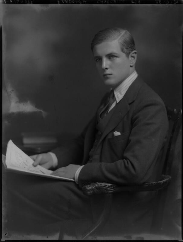 Randolph Frederick Edward Spencer Churchill, by Lafayette (Lafayette Ltd), 26 September 1930 - NPG x70658 - © National Portrait Gallery, London