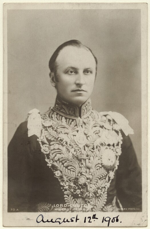 George Nathaniel Curzon, Marquess Curzon of Kedleston, published by Rotary Photographic Co Ltd, circa 1903 - NPG x7088 - © National Portrait Gallery, London
