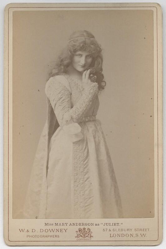Mary Anderson (Mrs de Navarro) as Juliet in 'Romeo & Juliet', by W. & D. Downey, 1884 - NPG x71 - © National Portrait Gallery, London
