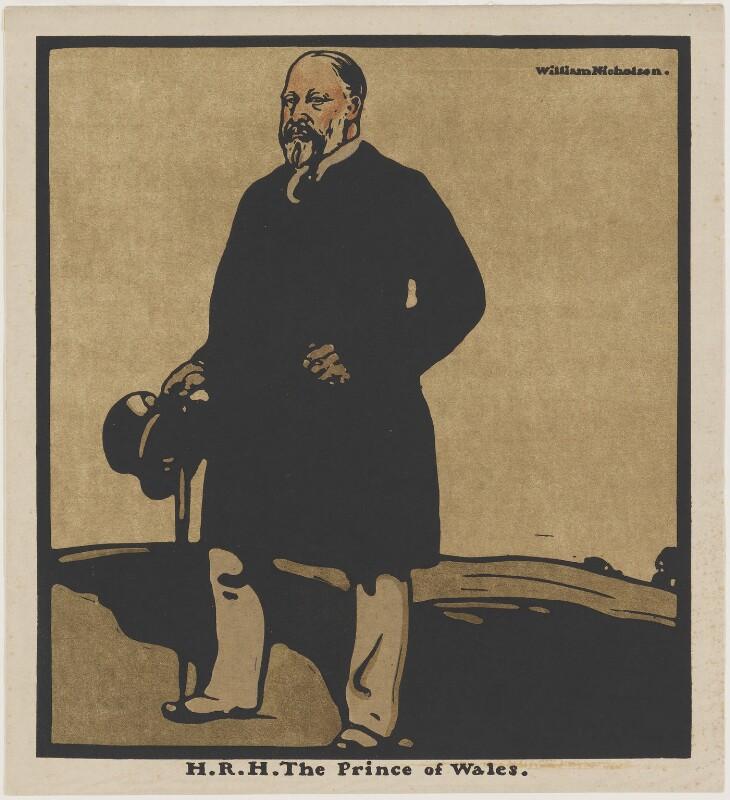 King Edward VII, published by William Heinemann, after  William Nicholson, published 1899 - NPG D10875 - © Desmond Banks
