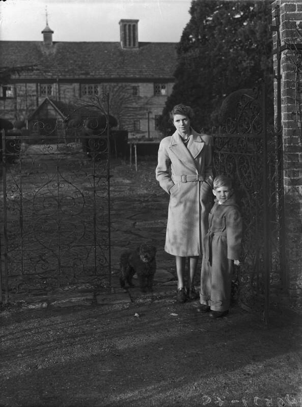 Timothy Gwynne Barker; Hon. Olwen Gwynne Barker (née Philipps), by Bassano Ltd, 5 January 1945 - NPG x72879 - © National Portrait Gallery, London