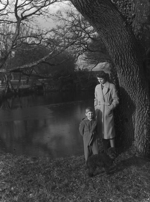 Timothy Gwynne Barker; Hon. Olwen Gwynne Barker (née Philipps), by Bassano Ltd, 5 January 1945 - NPG x72881 - © National Portrait Gallery, London
