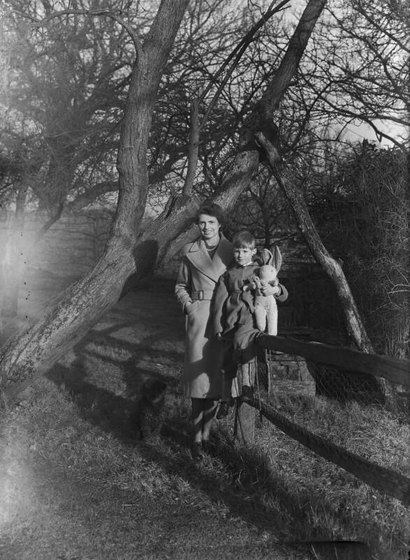 Timothy Gwynne Barker; Hon. Olwen Gwynne Barker (née Philipps), by Bassano Ltd, 5 January 1945 - NPG x72882 - © National Portrait Gallery, London