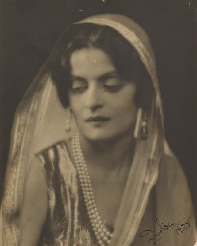 Indira, Maharani of Cooch Behar, by Dorothy Wilding, 1928 - NPG x6366 - © William Hustler and Georgina Hustler / National Portrait Gallery, London