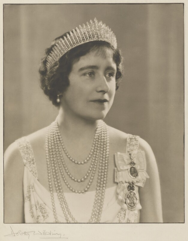 Queen Elizabeth, the Queen Mother, by Dorothy Wilding, 12 January 1937 - NPG P870(4) - © William Hustler and Georgina Hustler / National Portrait Gallery, London