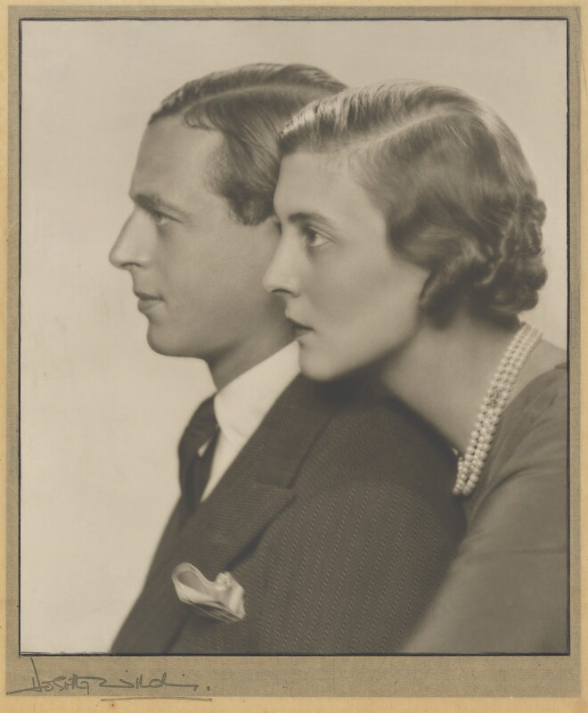 Prince George, Duke of Kent and Princess Marina, Duchess of Kent, by Dorothy Wilding, 1934 - NPG P870(10) - © William Hustler and Georgina Hustler / National Portrait Gallery, London
