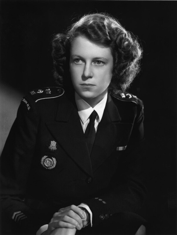 Lady Moyra Blanche Madeleine Browne (née Ponsonby), by Bassano Ltd, 15 October 1946 - NPG x73850 - © National Portrait Gallery, London