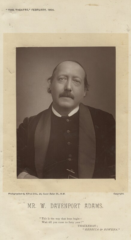 William Davenport Adams, by Alfred Ellis, published February 1894 - NPG x7405 - © National Portrait Gallery, London