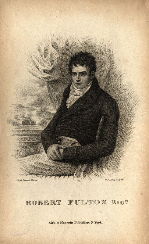 Robert Fulton, by William Satchwell Leney (Lenney), after  Elizabeth Emmet, after  Benjamin West, published 1817 - NPG D10908 - © National Portrait Gallery, London