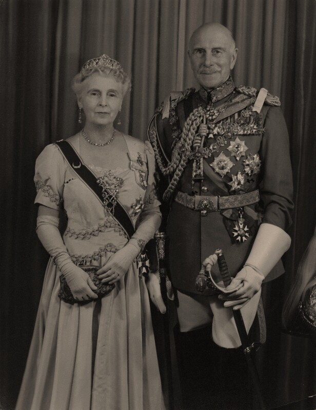 Princess Alice, Countess of Athlone; Prince Alexander Cambridge, Earl of Athlone, by Hay Wrightson Ltd, circa 1953 - NPG x74242 - © National Portrait Gallery, London