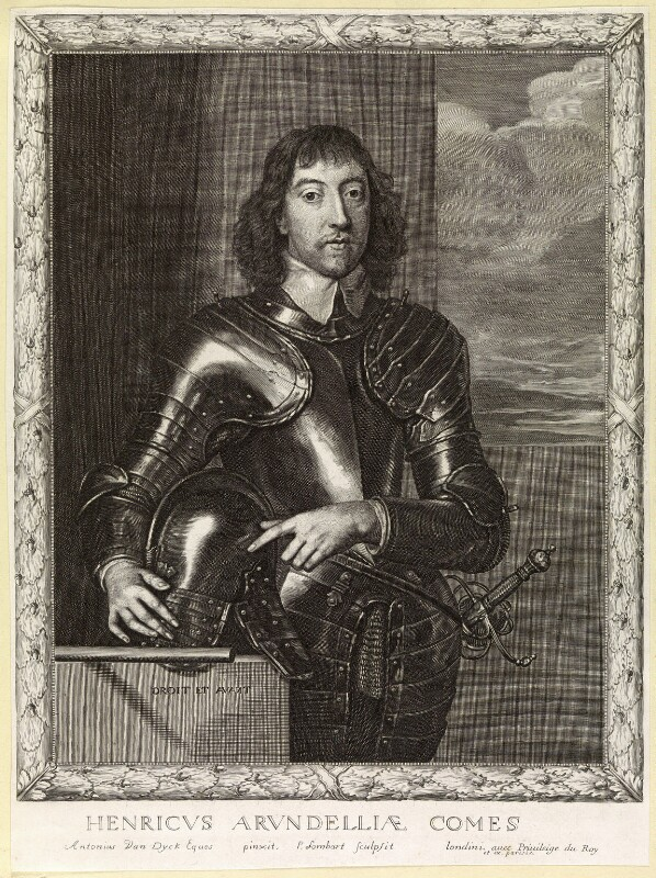 Henry Frederick Howard, 15th Earl of Arundel, 5th Earl of Surrey and 2nd Earl of Norfolk, by Pierre Lombart, after  Sir Anthony van Dyck, circa 1660 - NPG D10890 - © National Portrait Gallery, London