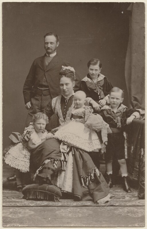 Frederick VIII, King of Denmark with his family, by Elfelt, (circa 1877) - NPG x74398 - © National Portrait Gallery, London