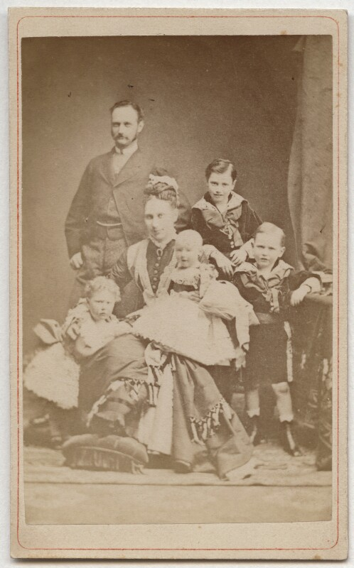 Frederick VIII, King of Denmark with his family, after Elfelt, circa 1877 - NPG x74399 - © National Portrait Gallery, London