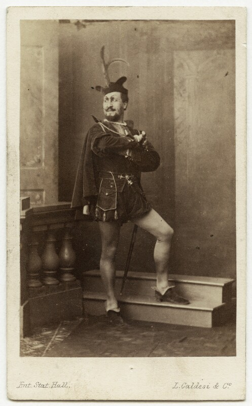 Jean Baptiste Faure as Mephistopheles in 'Faust', by Leonida Caldesi, 1864 - NPG x74412 - © National Portrait Gallery, London
