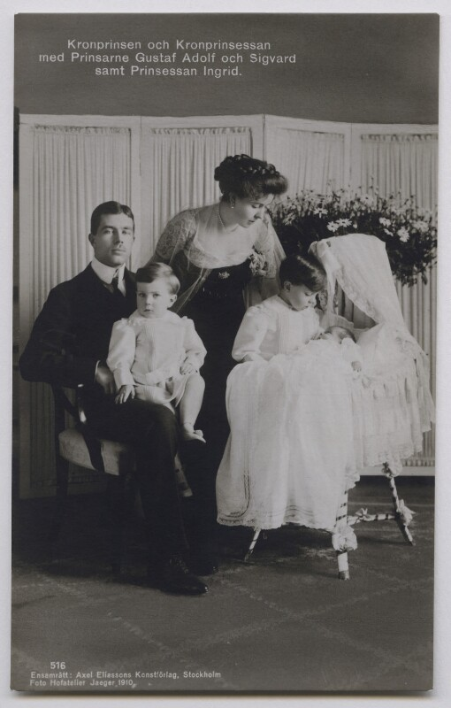 NPG x74452; Gustav VI Adolf, King of Sweden with his family ...