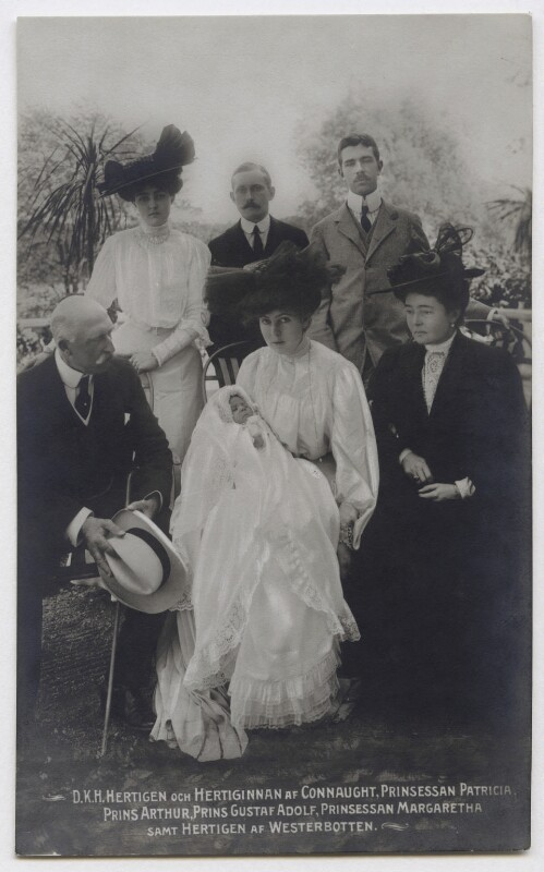 Margaret, Crown Princess of Sweden with her family, by Unknown photographer, October 1907 - NPG x74453 - © National Portrait Gallery, London