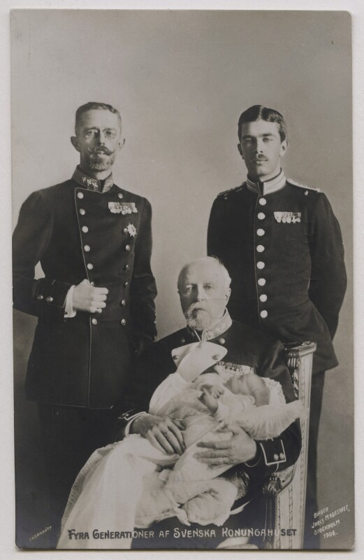 'Four Generations of Swedish Royalty', by Unknown photographer, 1906 - NPG x74454 - © National Portrait Gallery, London