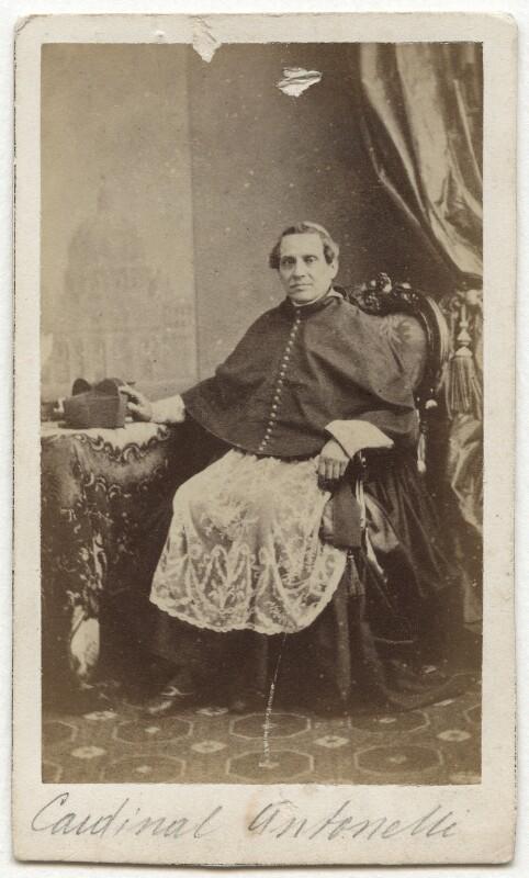 Giacomo Antonelli, by John Clarck, 1860s - NPG x74601 - © National Portrait Gallery, London