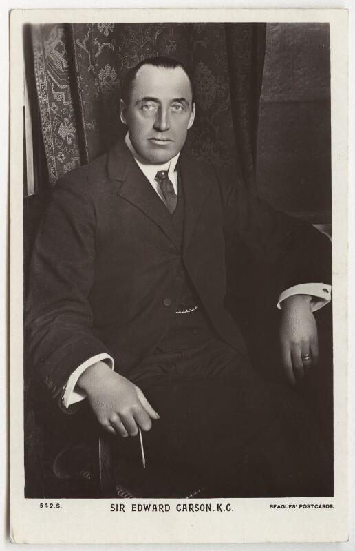 Edward Henry Carson, 1st Baron Carson, published by J. Beagles & Co, 1900s - NPG x74755 - © National Portrait Gallery, London