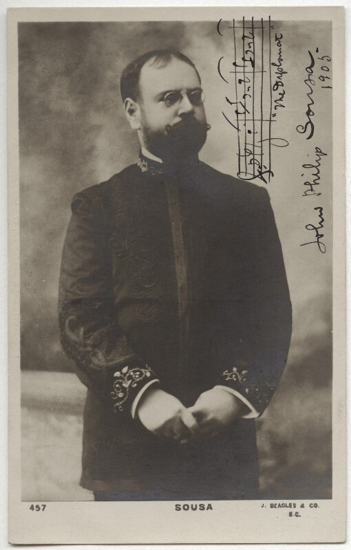 John Philip Sousa, published by J. Beagles & Co, circa 1905 - NPG x75765 - © National Portrait Gallery, London