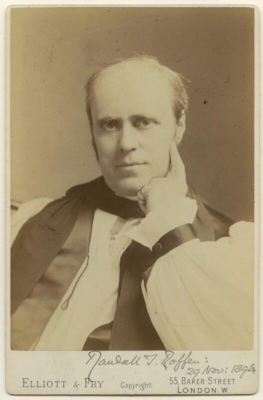 Randall Thomas Davidson, Baron Davidson of Lambeth, by Elliott & Fry, 1894 - NPG x75985 - © National Portrait Gallery, London