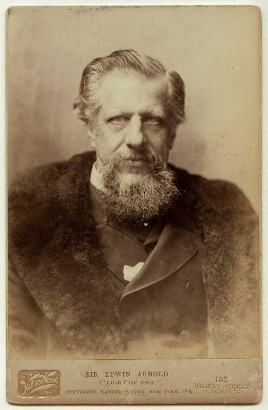 Sir Edwin Arnold, by Henry Van der Weyde, 1889 - NPG x76511 - © National Portrait Gallery, London
