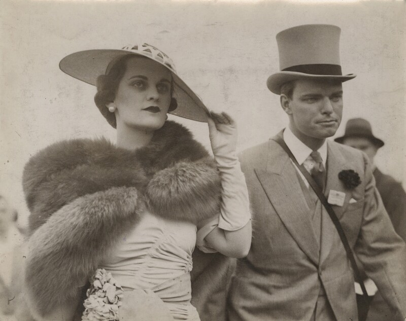 Margaret (Whigham), Duchess of Argyll; Charles Sweeny, by Unknown photographer, 15 June 1938 - NPG x76572 - © National Portrait Gallery, London