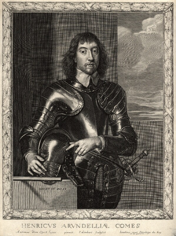 Henry Frederick Howard, 15th Earl of Arundel, 5th Earl of Surrey and 2nd Earl of Norfolk, by Pierre Lombart, after  Sir Anthony van Dyck, circa 1660 - NPG D10899 - © National Portrait Gallery, London